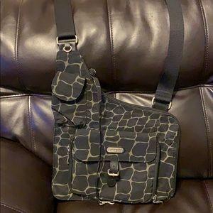 Olive Green and Black Baggallini Crossbody Bag